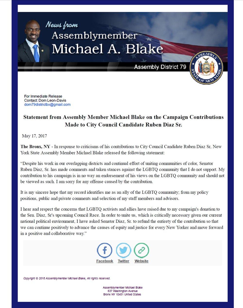 Blake Statement on CD18 Contribution - 5.17.17.jpg