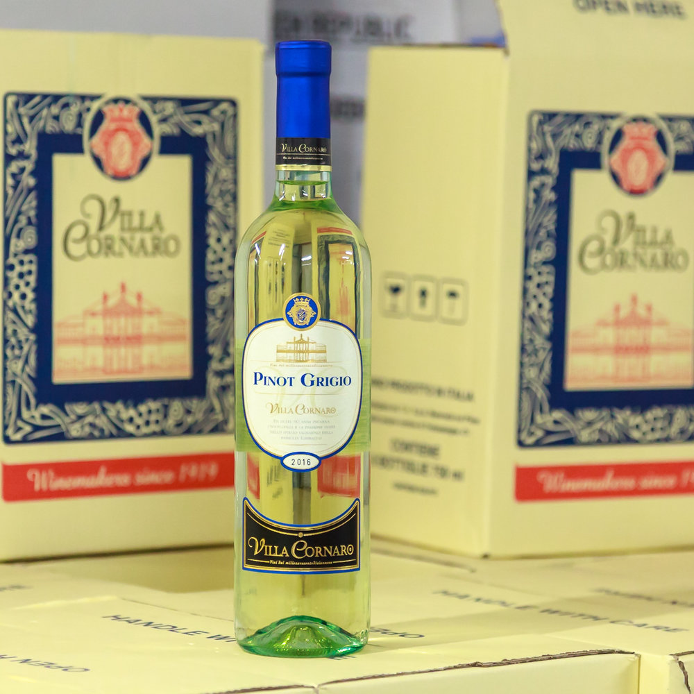 Základní řada - - Pinot Grigio- Chardonnay- Cabernet Sauvignon- Merlot