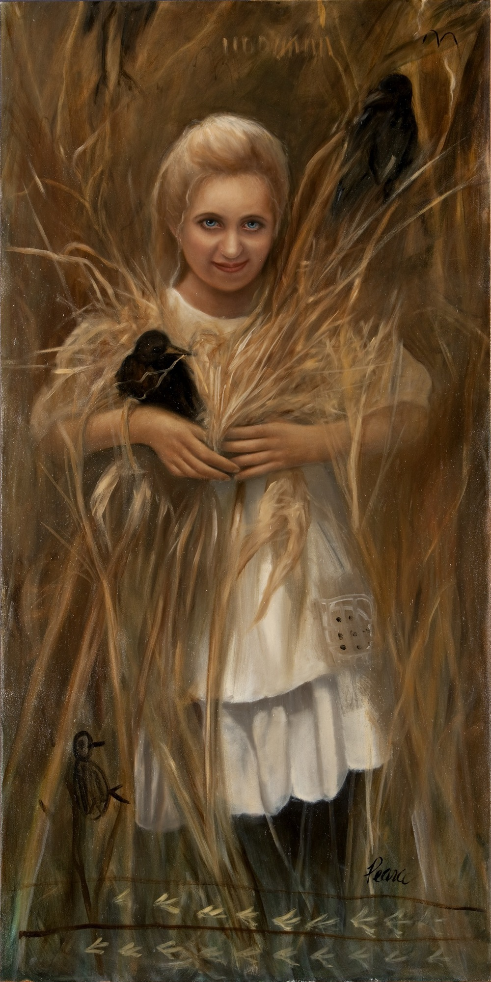 Corngirl,  2009, oil on panel, 48 x 24 inches,  sold