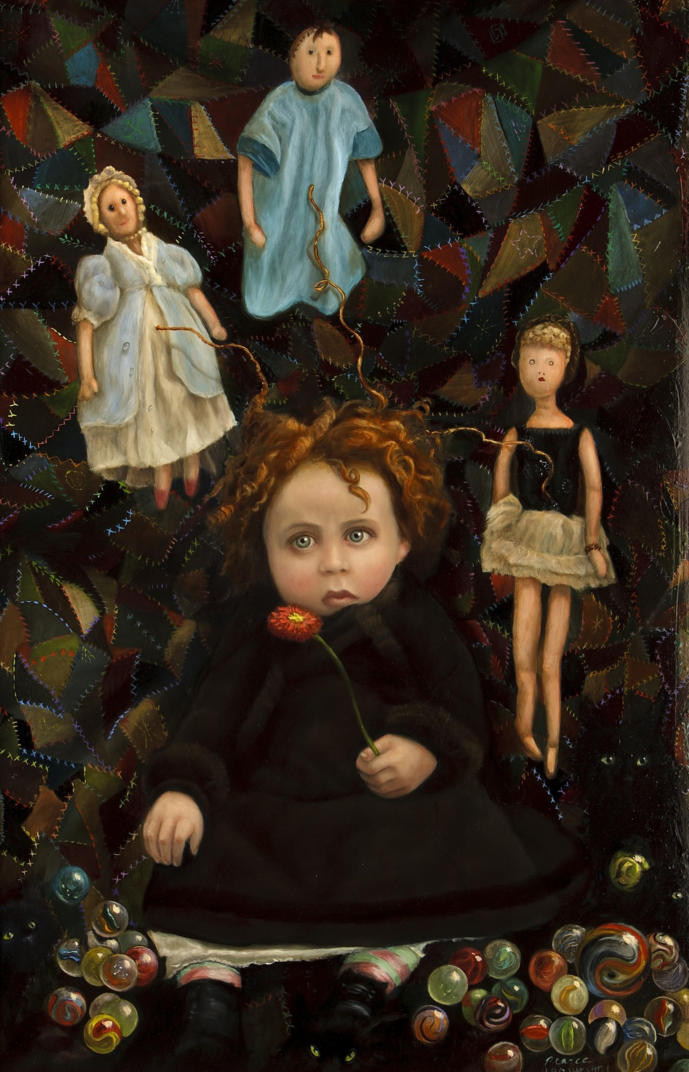 Crazy Mary,  2011, oil on panel, 28 x 22 inches  Sold