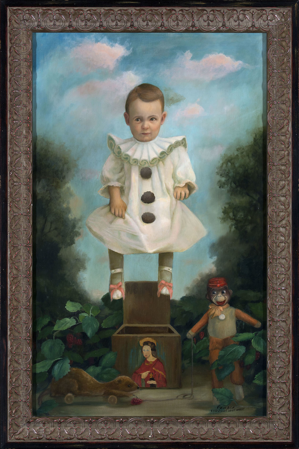 """""""Who in Hell Let Jack Out?"""" 20 x 32 2015 Oil"""