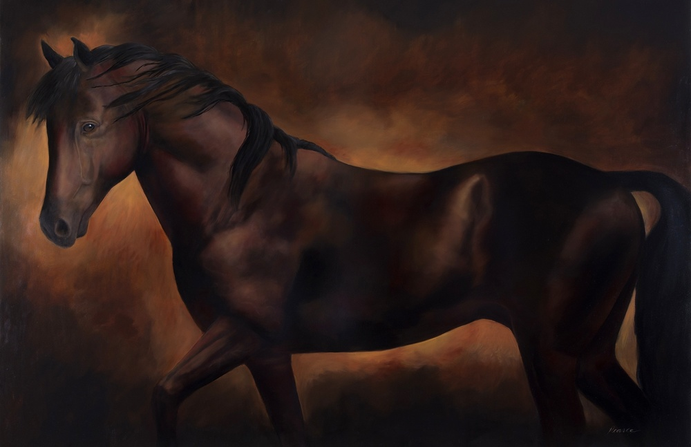 """Spur"" 48 x 72 inches, Oil"