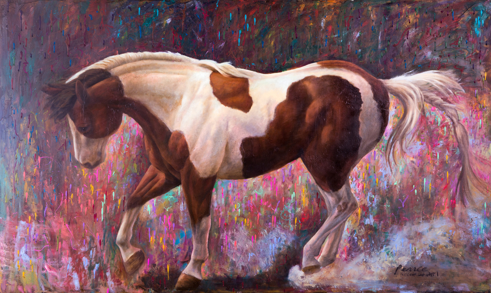 """""""The Paint Ran with Tears of Joy"""", 36 x 60 inches, Oil"""