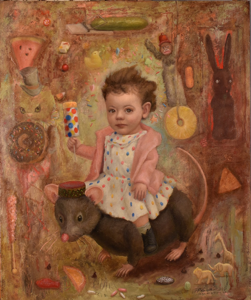 Mousetrap,  Oil on Panel, 20x24inches, 2018  Sold