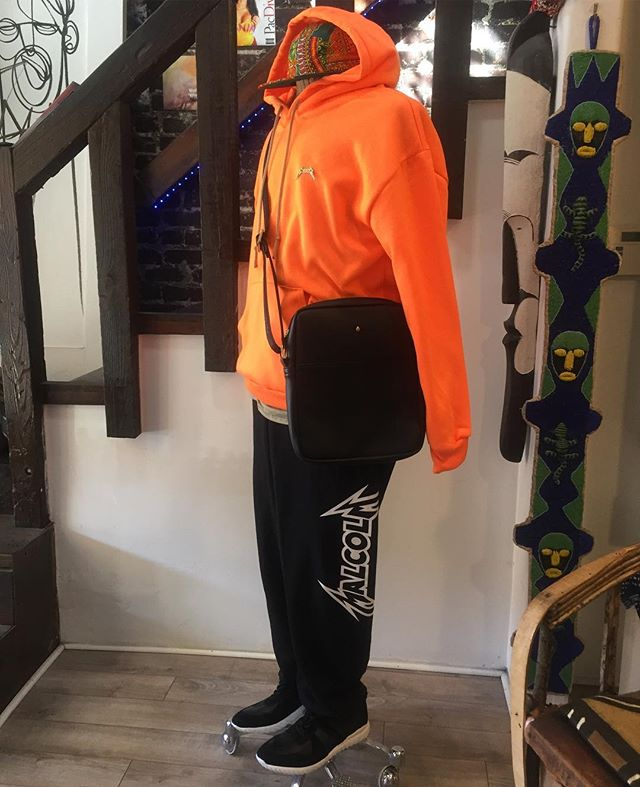Black PMT runner and Safety 🍊 hoody well paired @passportphc ......... #ss17 #PHnCo #PassportADV #MadeInEthiopia