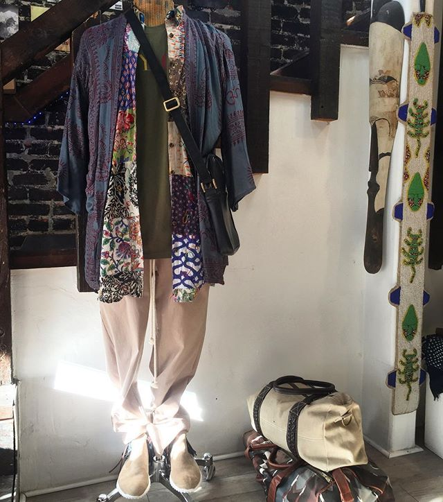 Well played... @passportphc Teddy boots in sand, with custom indigo fabric kilt. #BohemianSummer