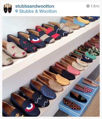my closet in palm beach. image from stubbs&wootton instagram.