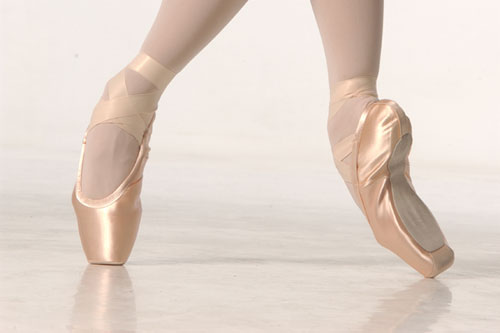 pointe shoes.