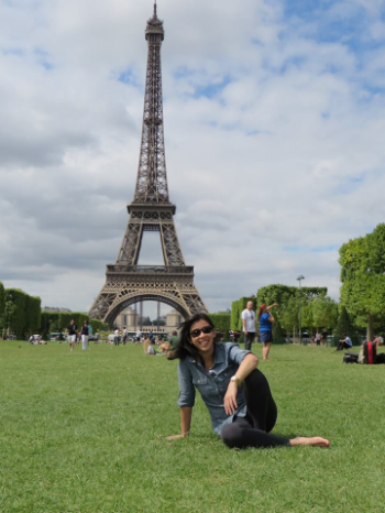 sheila. my perfect pal in paris (not at the eiffel tower in las vegas, the real one in paris).
