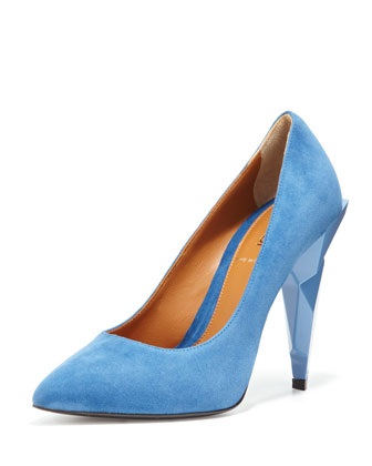 diamond heel pump.