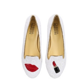 lipstick lace loafers.