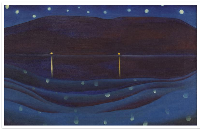 starlight night. 1922. oil on canvas.