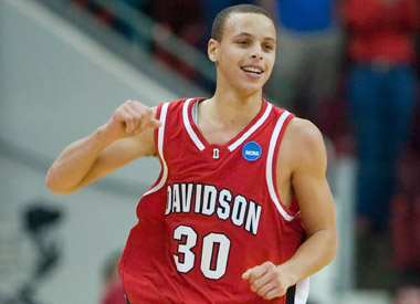 #tbt curry at davidson. we need a win tonight so we can see that smile!