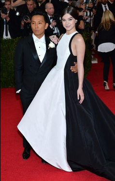 hailee steinfeld and prabal gurung at the met gala. courtesy washington post.