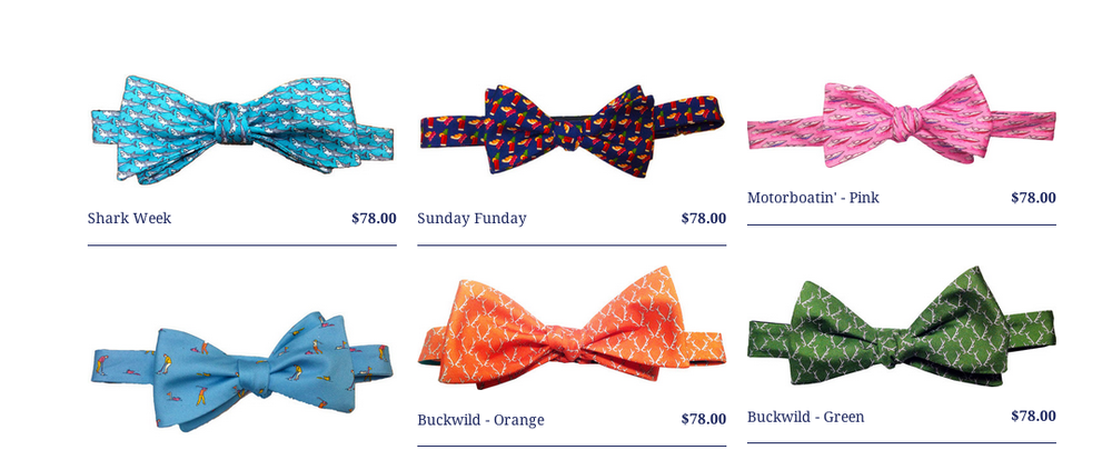 LazyJack Press is available at Barneys and online at www.lazyjackpress.com. At recent formal events, I've seen gentlemen exclusively in bow ties. They need LJP in their lives ASAP!