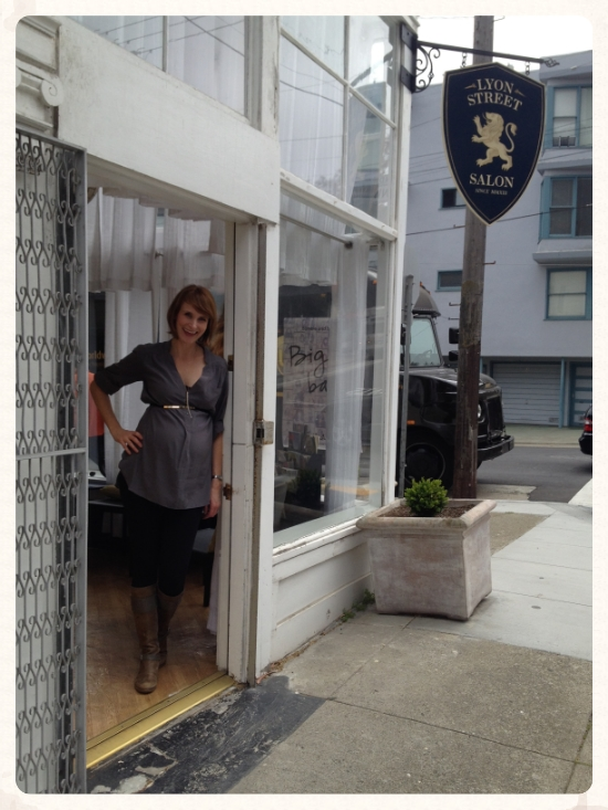 michelle at her salon.  lyon street salon.