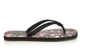 floral print sandals.