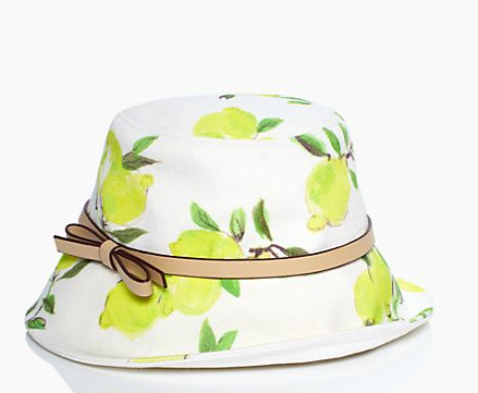 lemon bucket hat.