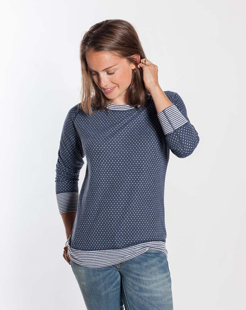 REVERSIBLE RAGLAN - NAVY BLUE