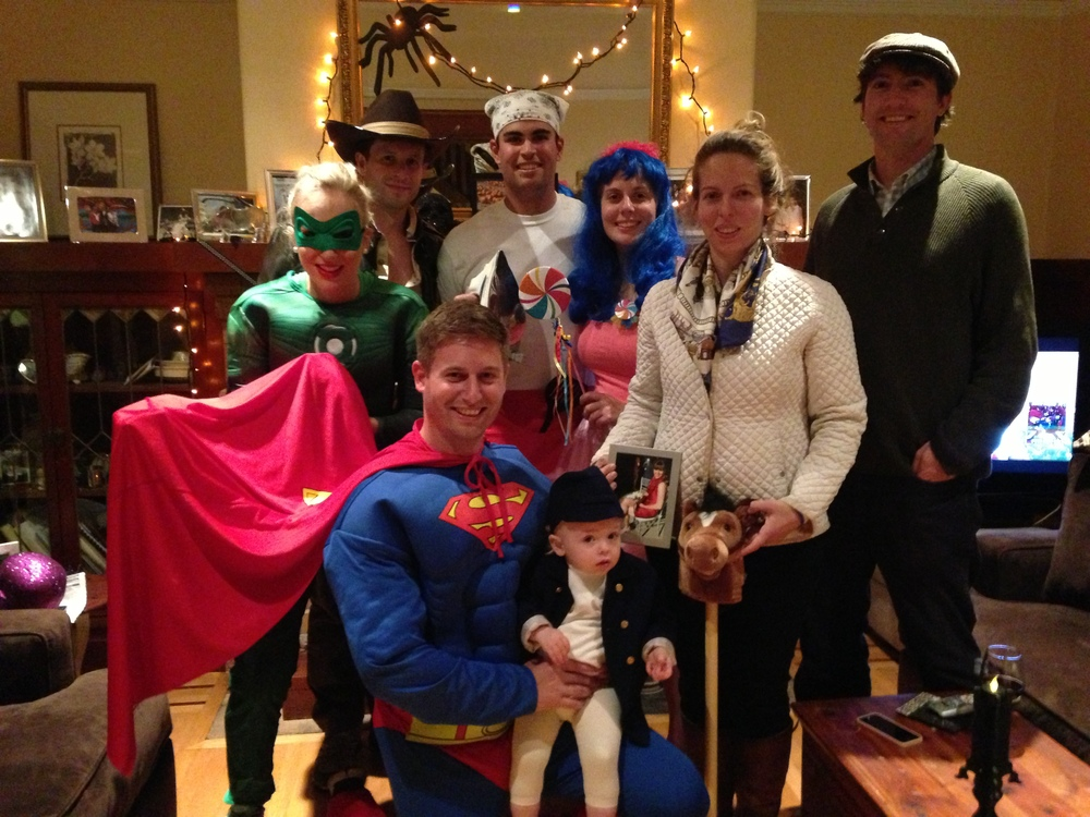 2nd Annual Fright Feast: Indiana Jones and a Snake, Iron Chef, Katy Perry, Superman, Jockey, Trainer, and Bookie.