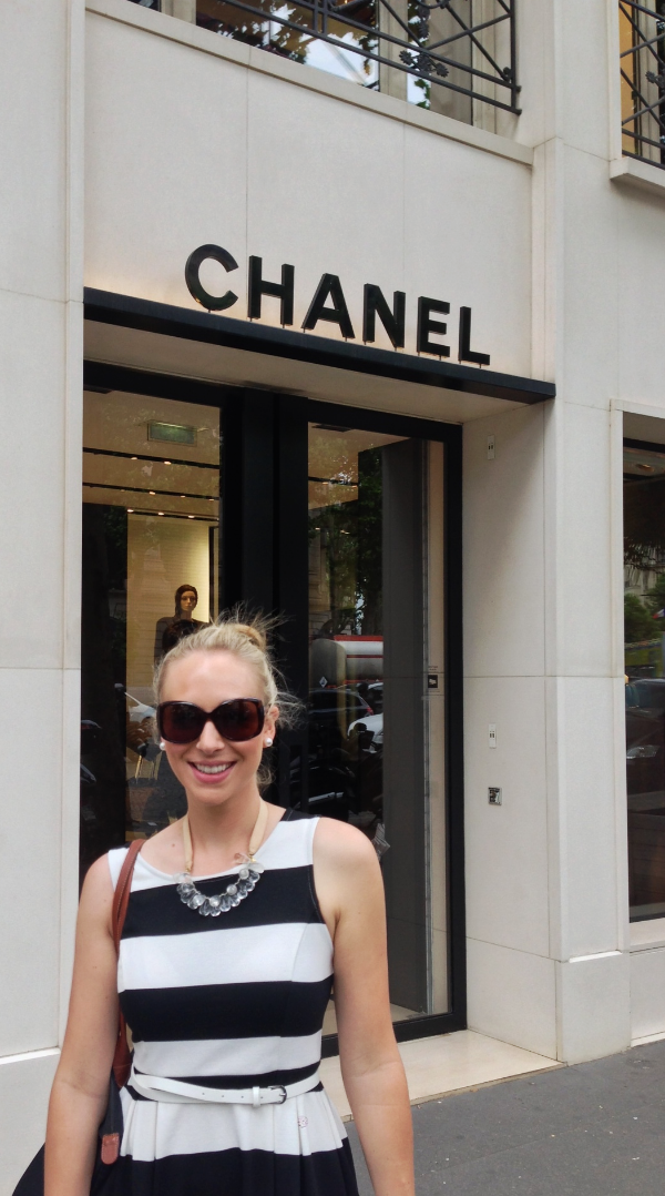 Off the plane. First stop: Chanel.