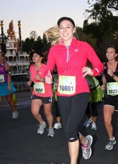 Tinkerbell Half Marathon in Disneyland.