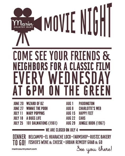 marin country mart-movie night 2018