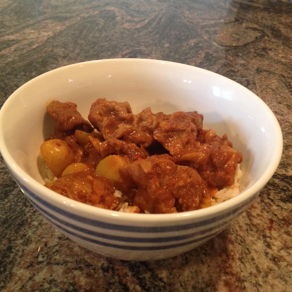Curry Seitan over Rice