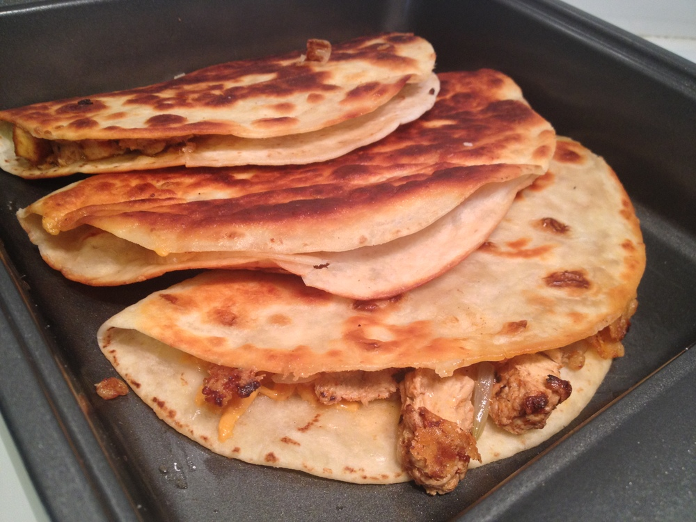 Kamaal's Chick'n Quesadillas