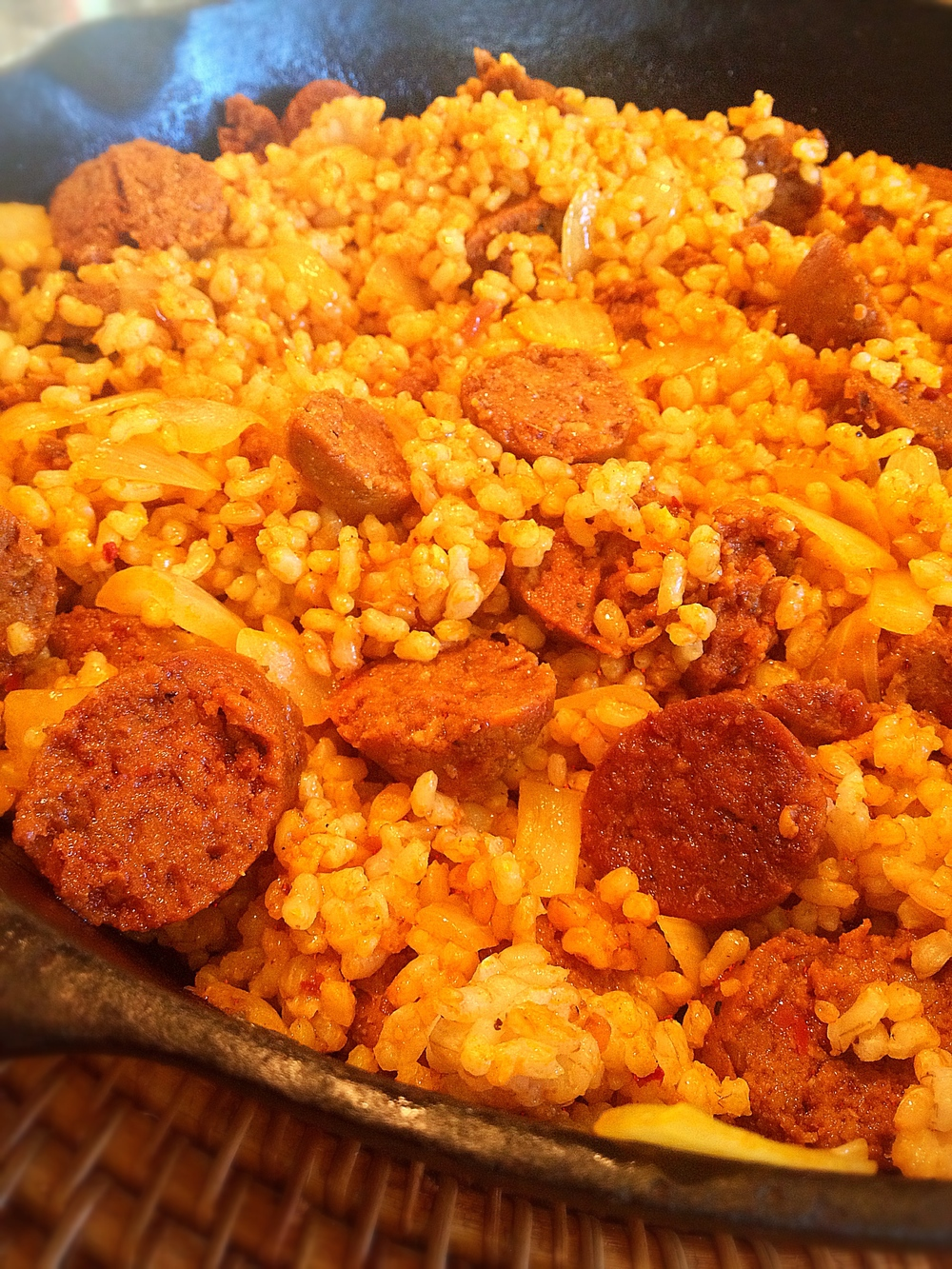 Rice with Spicy Sausage
