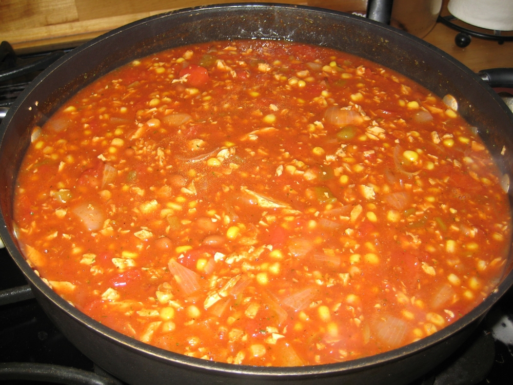 Spicy Chick'n Taco Soup