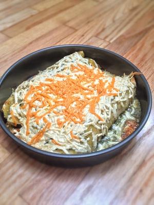 Veggie soul food enchiladas in green sauce with chickn rtg forumfinder Images
