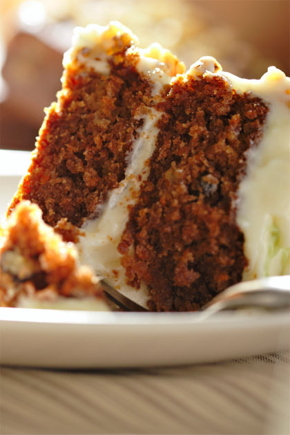 Vegan Carrot Cake with Creamy Lemon Frosting
