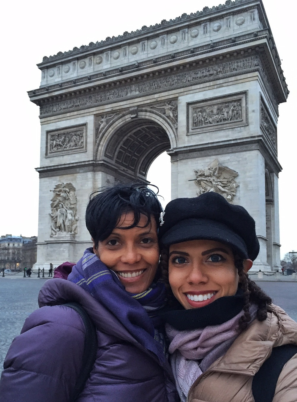 In front of the Arc de Triomphe