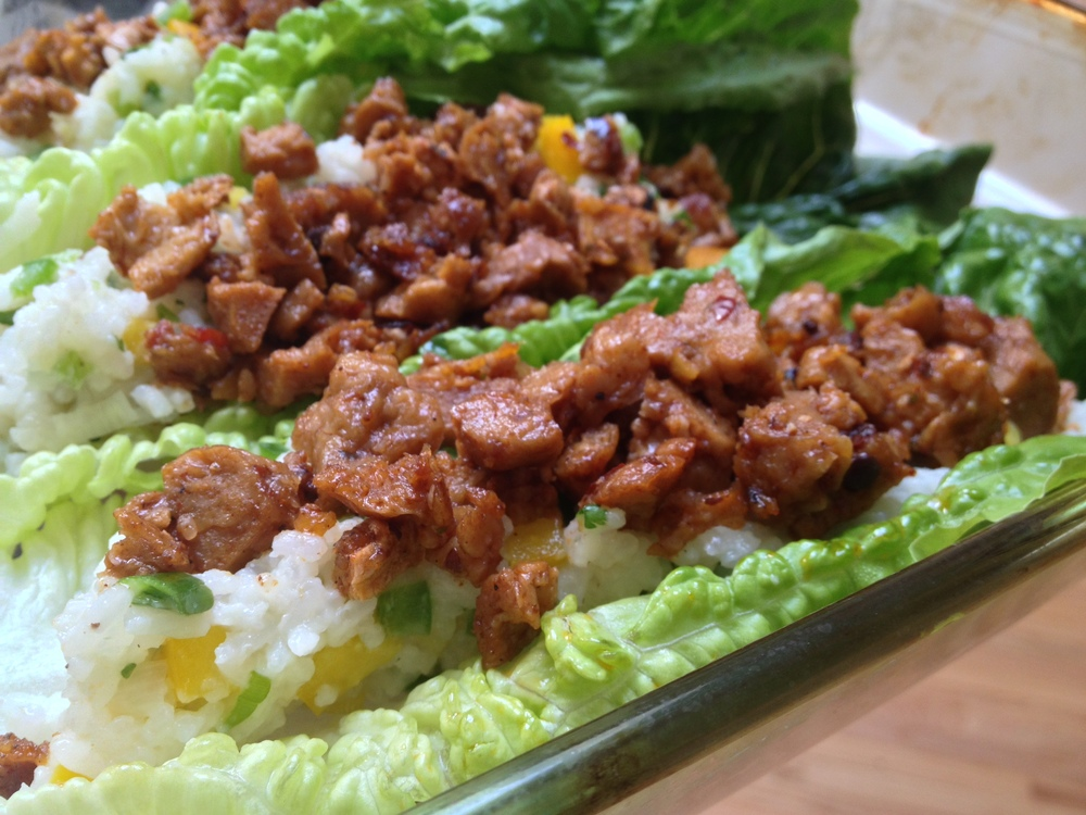 Thai Lettuce Boats with Spicy Seitan