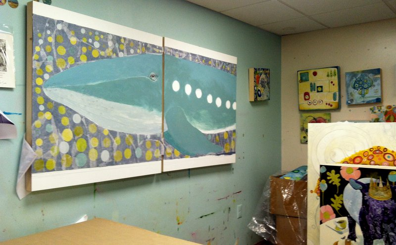 Phygment Studio today as I prepare to make progress on the Humpback Whale piece
