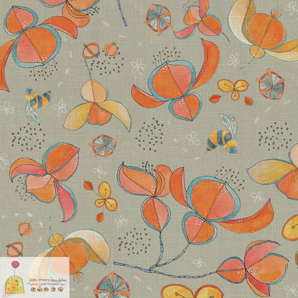 This is my contribution to Dot and Flow's #foliofocus - floral pattern assignment