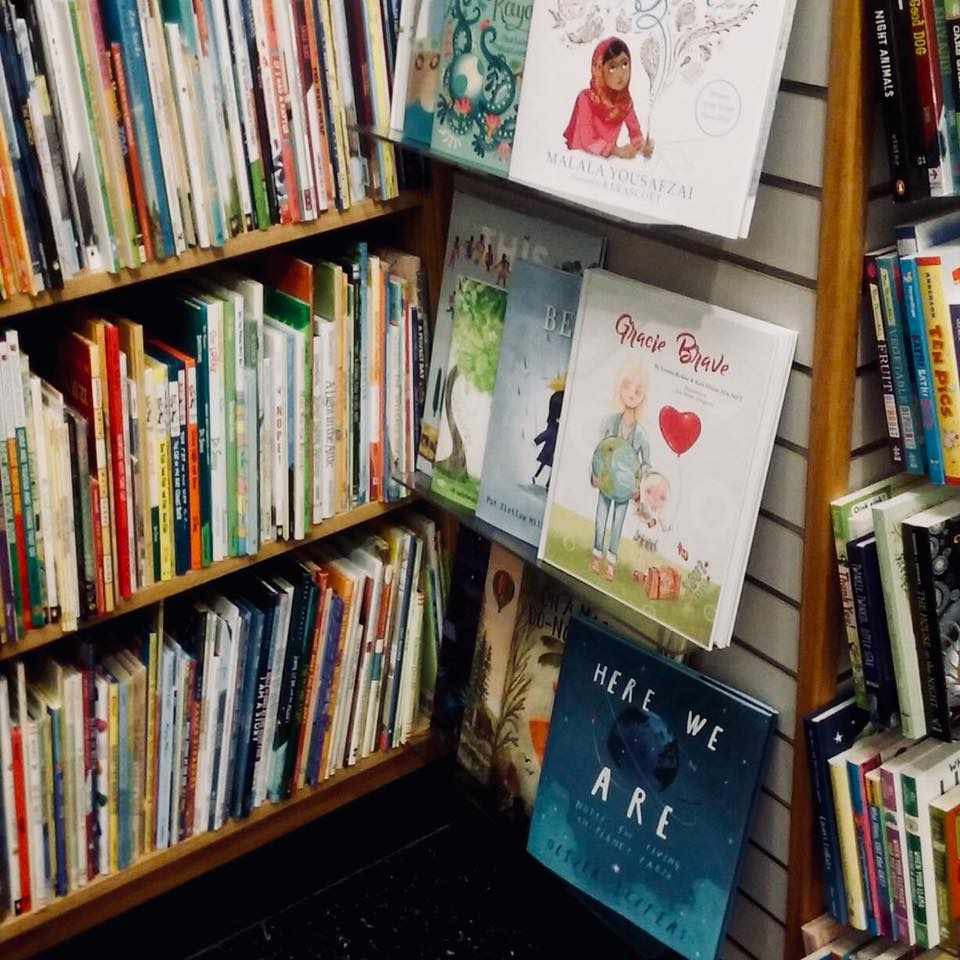 Gracie Brave on the shelves next to today's most exciting new and beautiful picture books! Someone pinch me.