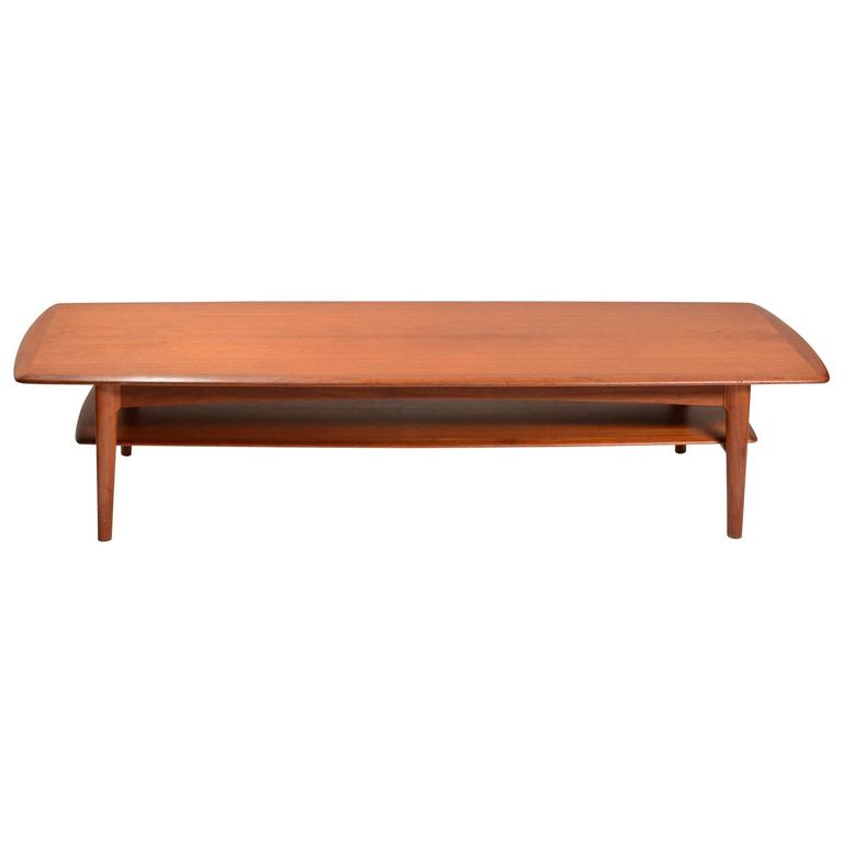 Early Danish Modern Teak Coffee Table With Bottom Shelf. 5177713_l