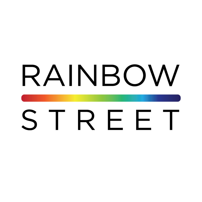 Rainbow Street's new logo, designed by Alyssa Kibiloski