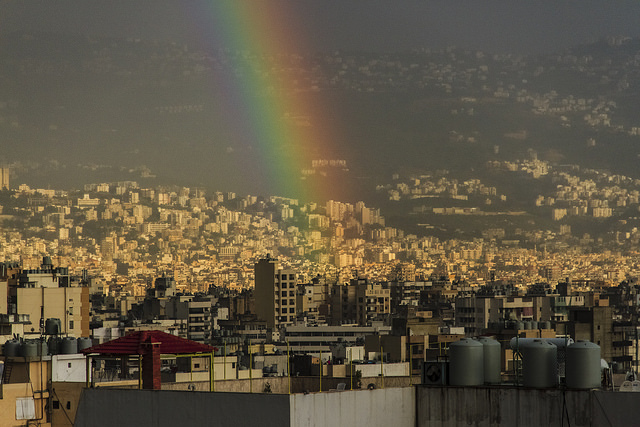 Rainbow in beirut by HAsan Chamoun