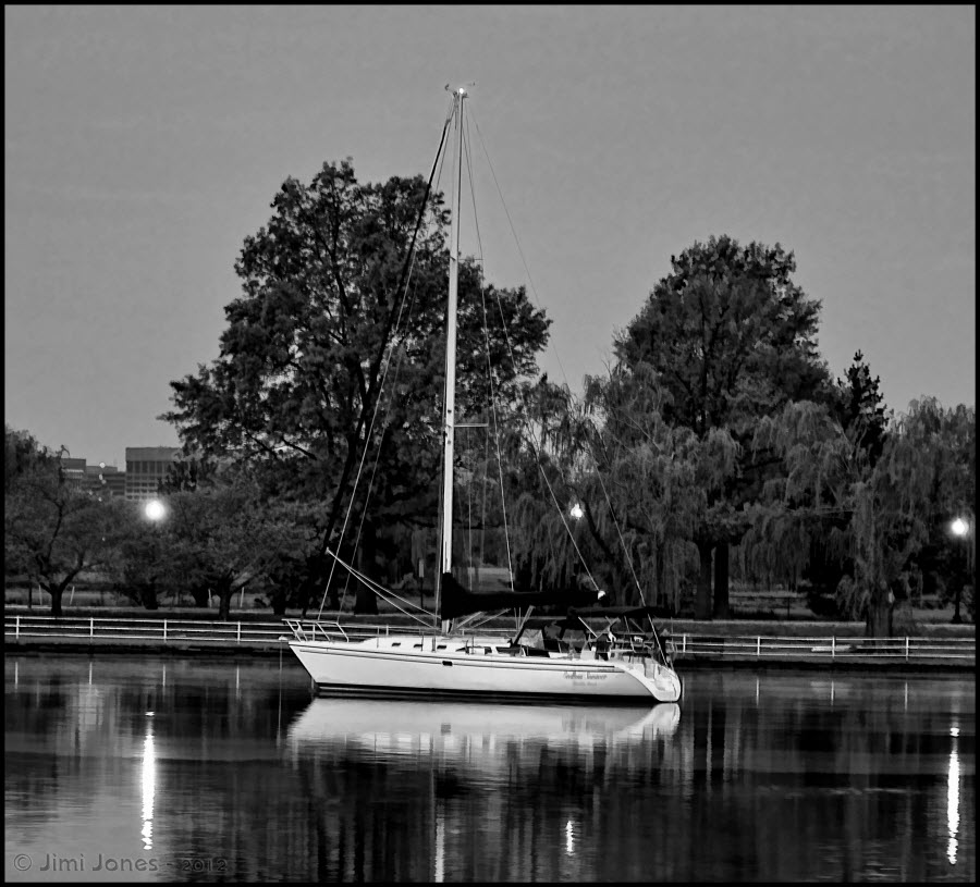 Anchored - B&W