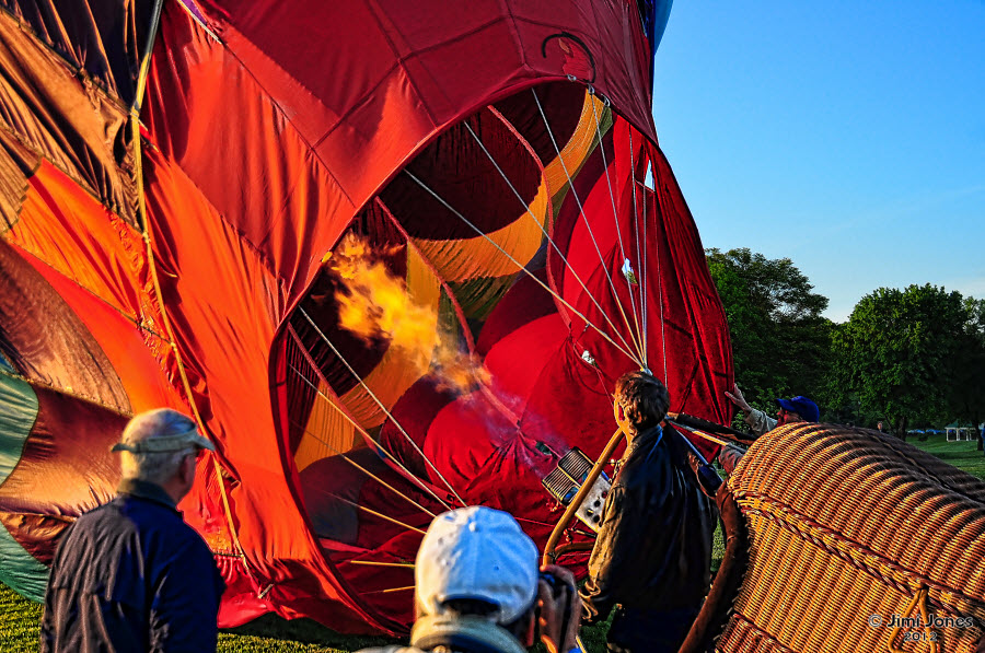 Hot Air Ballooning - Flame On