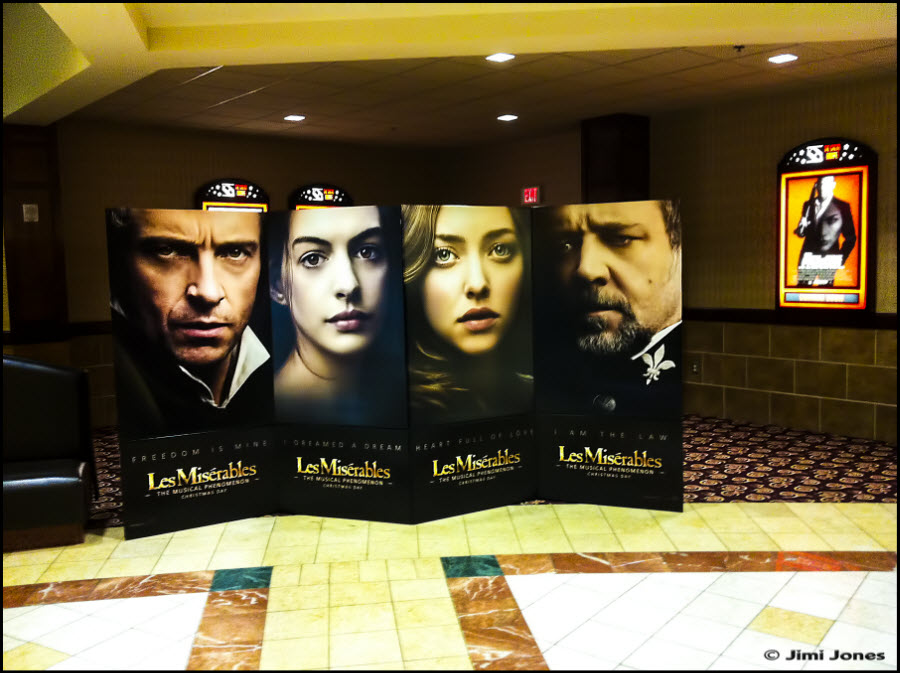 Photo of a Les Miserables poster board