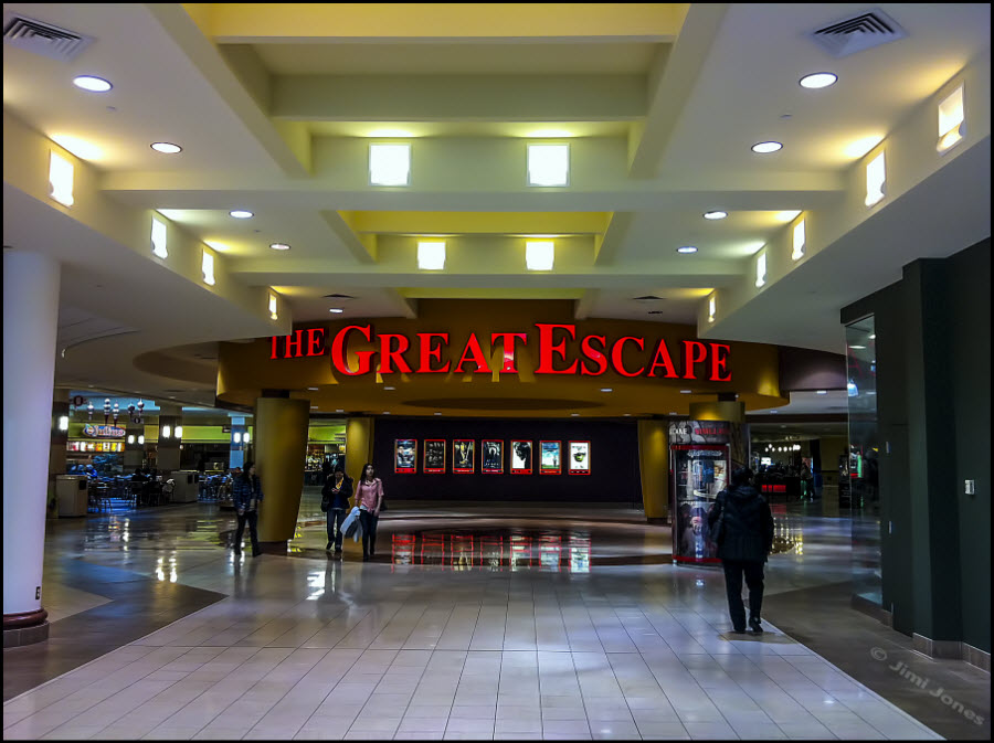 Photo of The Great Escape Movie Theater lobby.