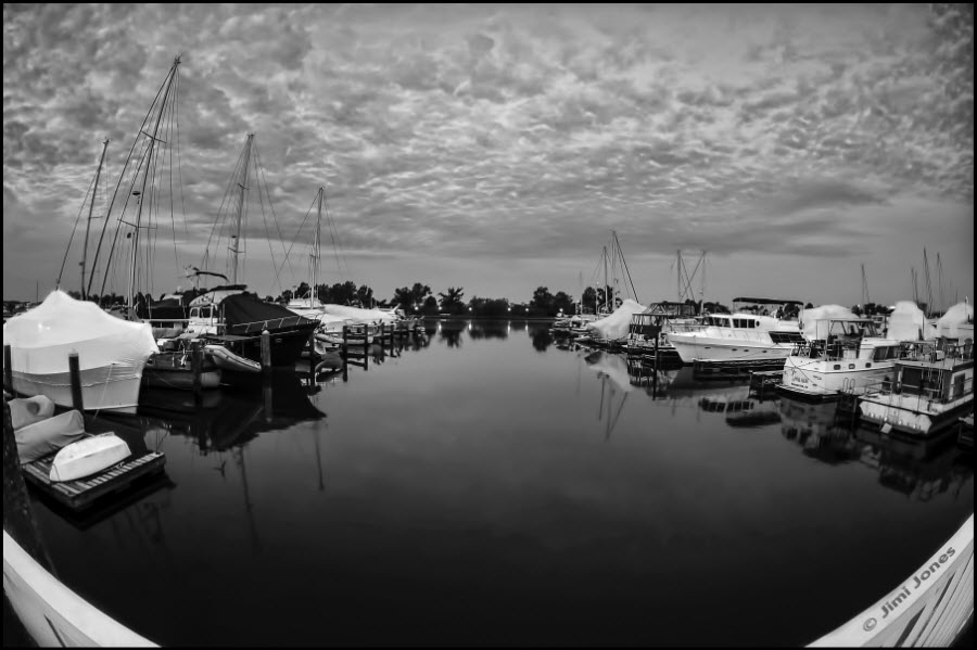 Blue Harbor - B&W Version