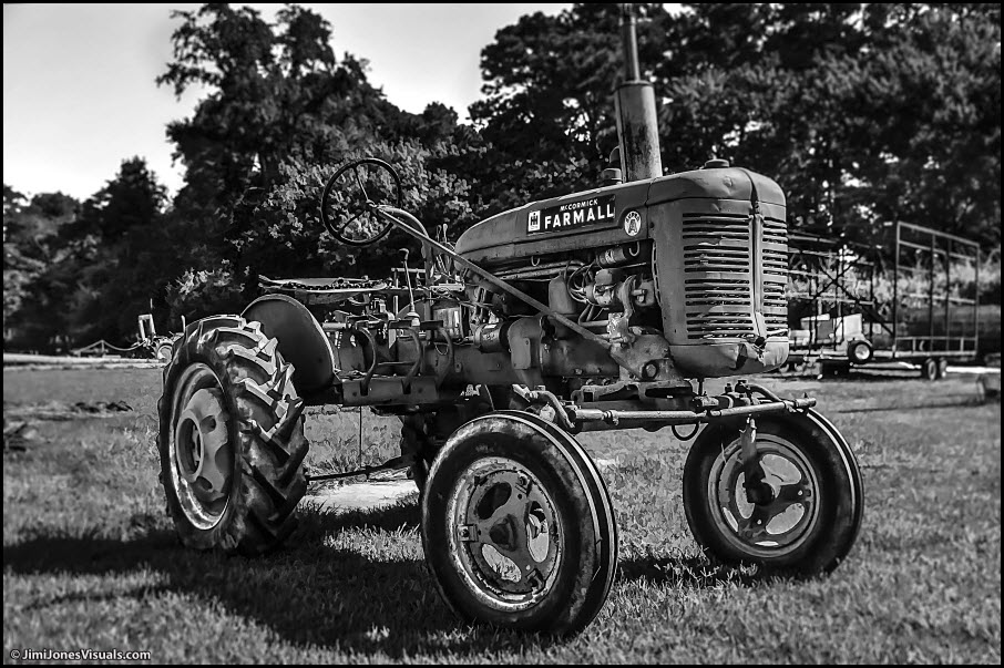 McCormick Farmall Tractor in Black and White