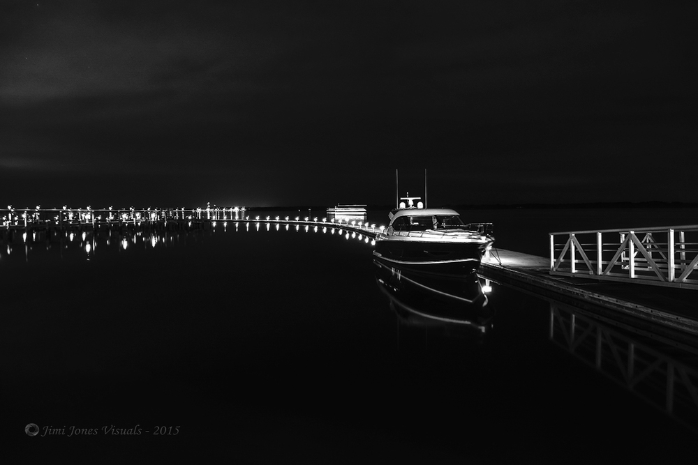 Midnight Magic - Black and White Photo