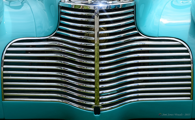 abstract car art - vintage turquoise chevy
