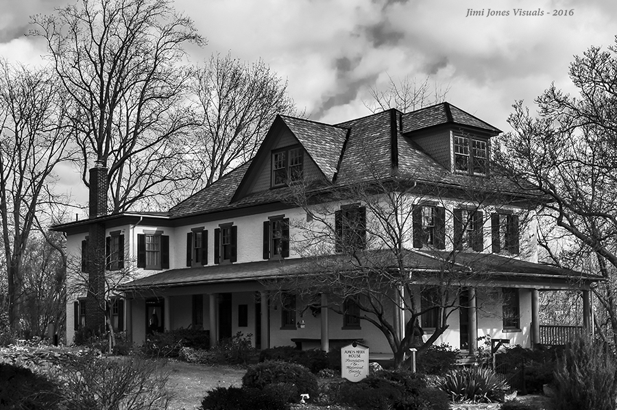 Amos Herr House Black and White Photography